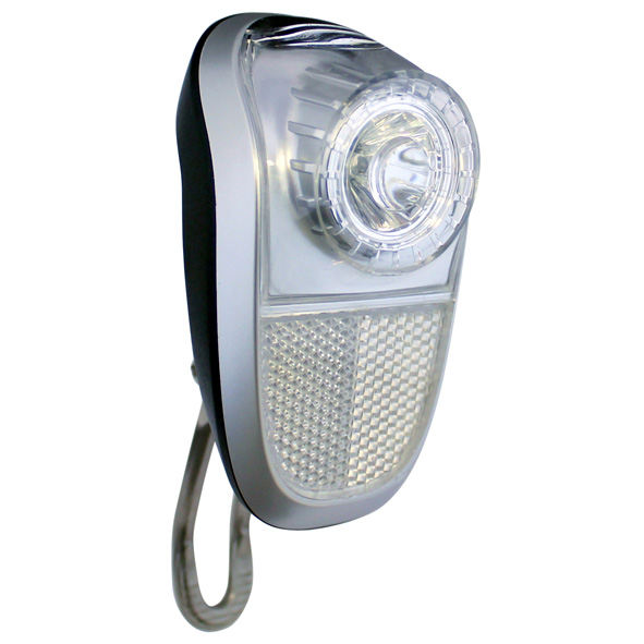 union koplamp mobile led dynamo zilver
