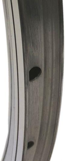 velg 28 inch / 622 x 14C aluminium - 32 gaats 14G - chroom geslepen