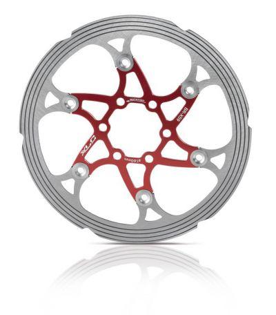 XLC remschijf CNC 160mm rood/zilver BRX59
