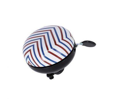XLC bel Stripes Ding Dong wit/rood 83mm