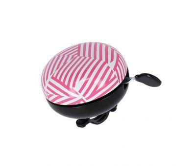 XLC bel Stripes Ding Dong roze/wit 83mm