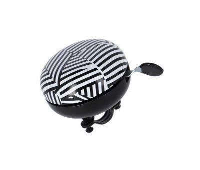XLC bel Stripes Ding Dong zwart/wit 83mm