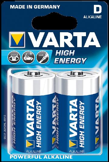 VARTA batterij Longlife Alkaline LR20 (2x)