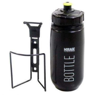 Mirage bidon + houder 600cc Evening zwart