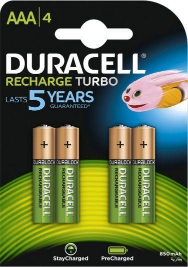 Duracell batterij oplaadbaar AAA / HR03 NimH 1.2V - 750 mAh (4 stuks)