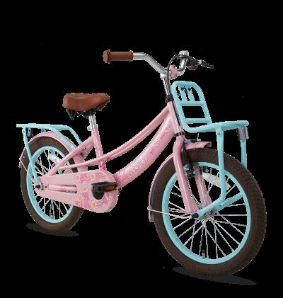 Popal Lola 18 inch meisjesfiets roze-turquoise