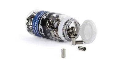 XLC hoedjs zilver 5.0mm (200 stuks)
