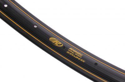 Rodi velg Westwood 28 inch / 635 x 24 aluminium 14g 36 gaats - zwart met gouden bies