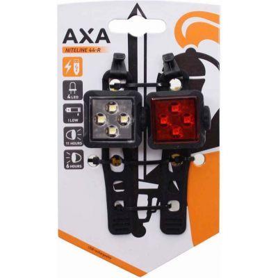 Axa Niteline 44-R verlichtingset USB oplaadbaar