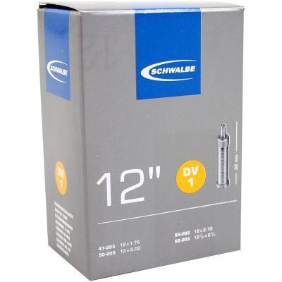 Schwalbe binnenband DV1 - 12 inch 12x2.1/4 - 12x1.75/2.10 (47/62-203) hollands ventiel 32 mm