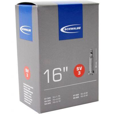 Schwalbe binnenband 16 inch 16x1.75/2.50 (47/62-305) frans ventiel (SV3) 40 mm