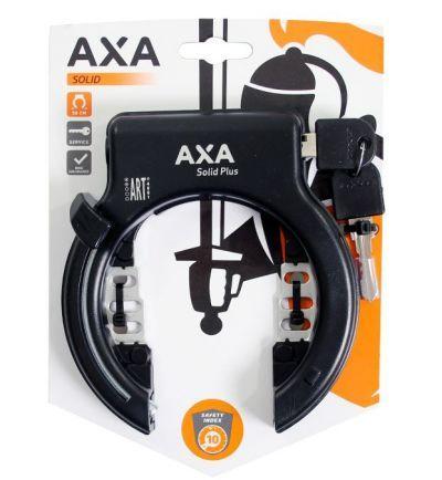 Axa ringslot Solid Plus met insteek mogelijkheid zwart