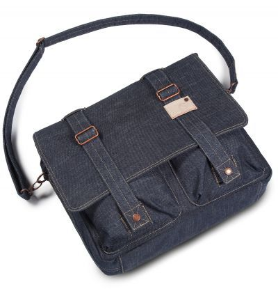 Cortina Kansas  denim Messenger Bag