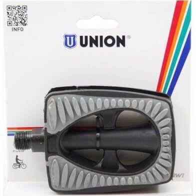 Union pedalen 808 anti-slip zwart/grijs